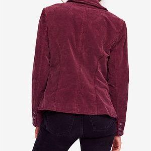 Free People Jackets & Coats - NWT Free people byron corduroy blazer mulberry S